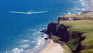 Glider above Mussenden Temple